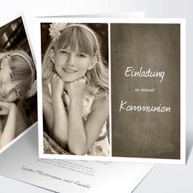 Kommunionskarten   Getäfelt Jung