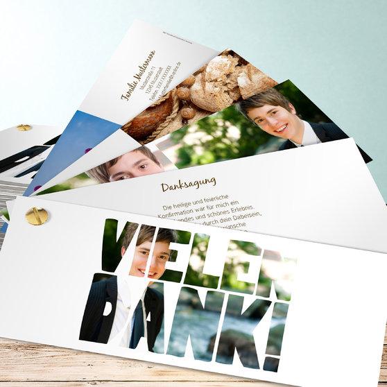 Fototext - Kartenfächer 210x80 - Weiß