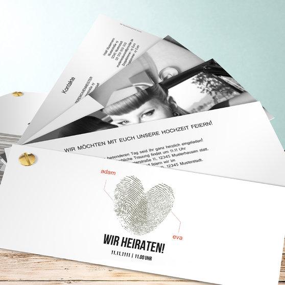 Fingerprint - Kartenfächer 210x80 - Weiß