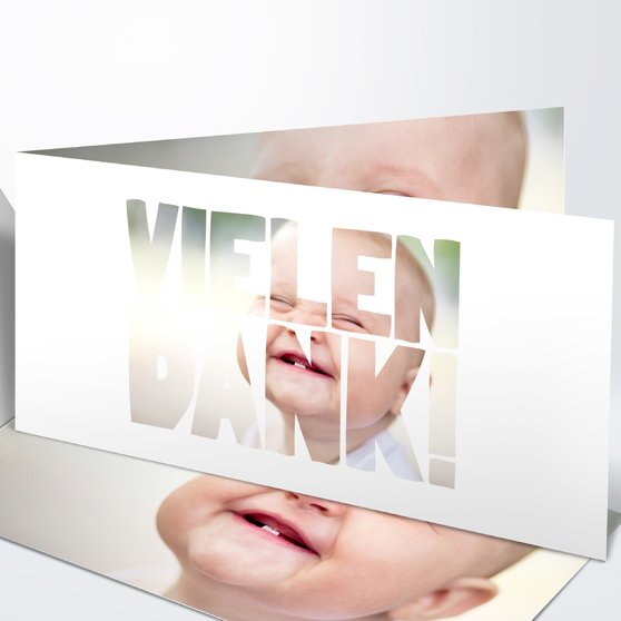 Danksagung Geburt - Fototext Geburt