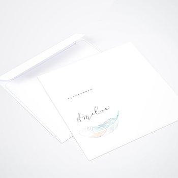 Umschlag mit Design  Baby - Federstreich