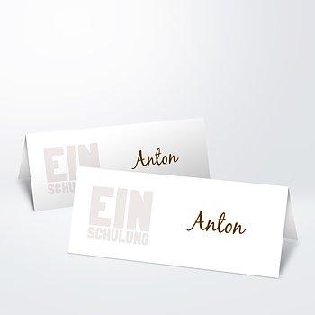 Tischkarte Einschulung - Fototext Einschulung
