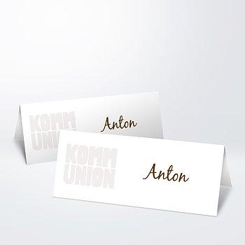 Tischkarten Kommunion - Fototext