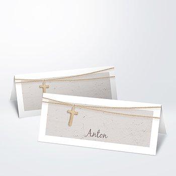 Tischkarten - Holzkreuz