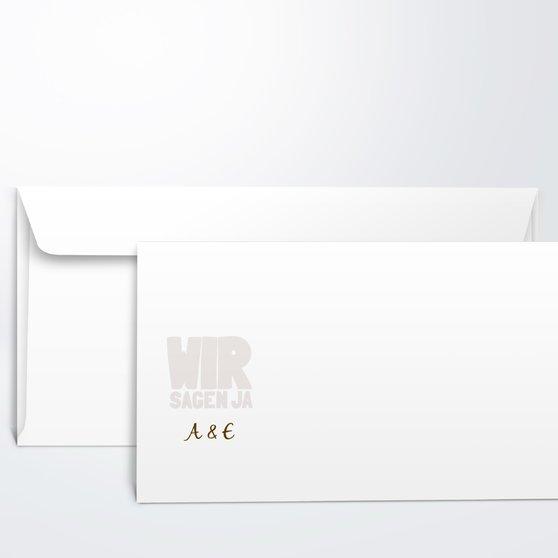 Umschlag mit Design Hochzeit - Liebe durch und durch
