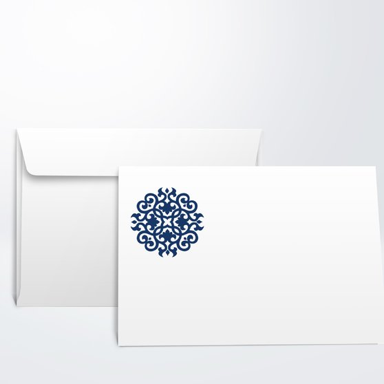 Umschlag mit Design Konfirmation - Kugelrund