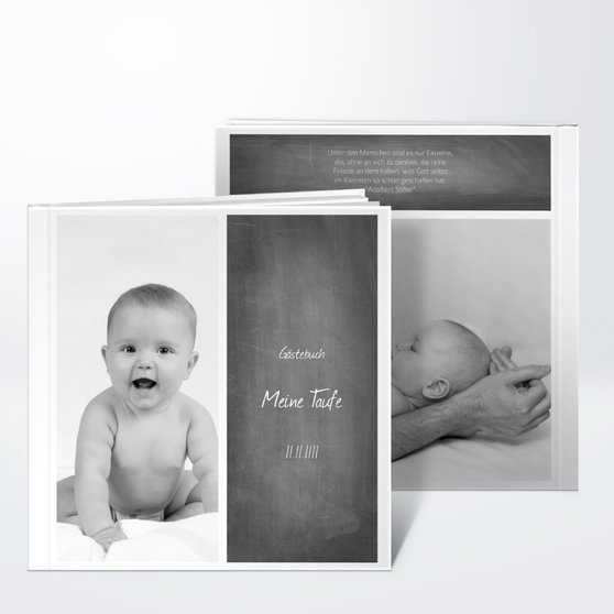 Gästebuch Taufe - Getäfelt jung