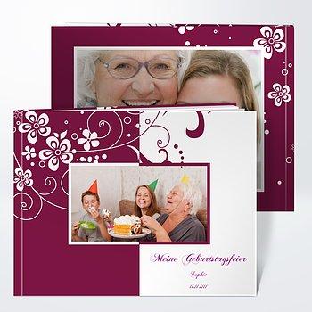 Schön Fotobuch Geburtstag   Blütenkarte