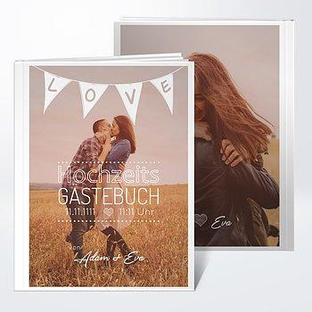 Gästebuch Hochzeit - Liebeswimpel