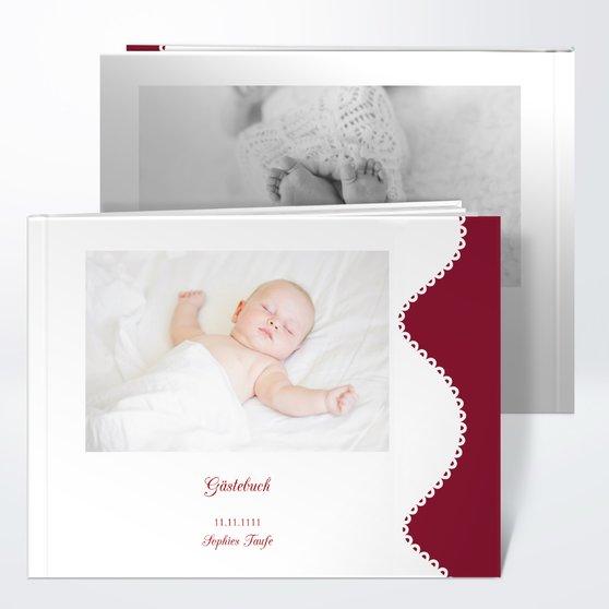 Gästebuch Taufe - Reinweiß