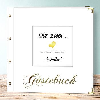 Hochzeitsbuch - Goldenes Herz