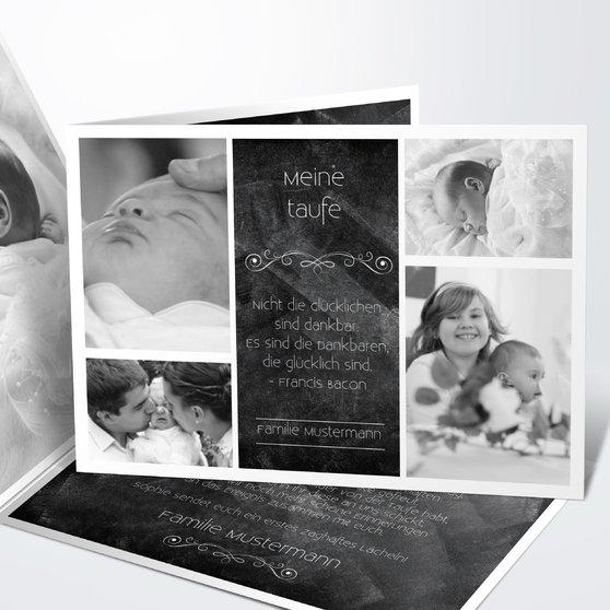 Danksagung zur Taufe - Babytafel