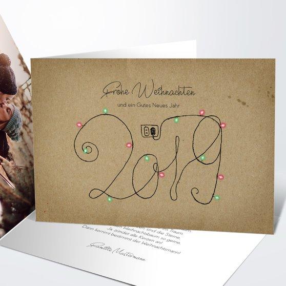 Weihnachtskarten - Glühender Jahresstart