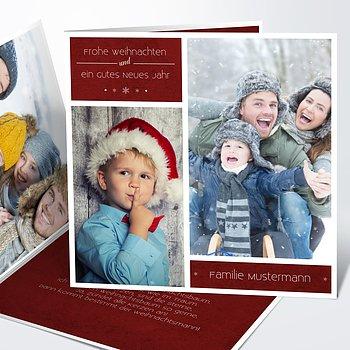 Weihnachtskarten - Weihnachtsfotowand