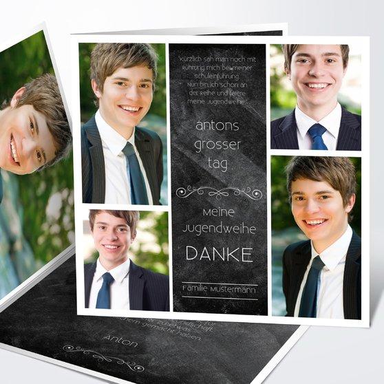 Danksagungen zur Jugendweihe - Jugendweihe-Tafel
