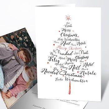 Weihnachtskarten - Sprachenbaum
