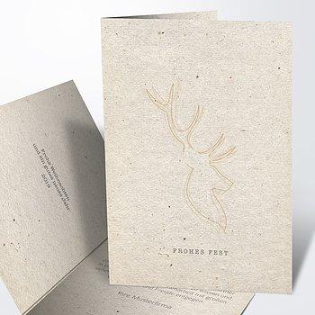 Weihnachtskarten Geschäftlich - Elchprofil