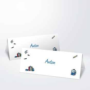 Tischkarte Einschulung - Das große ABC