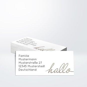Adressaufkleber Geburt - Hallo Baby