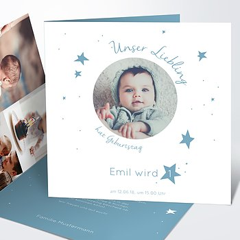 Einladungen für Kindergeburtstag - Birthday star