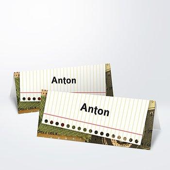 Tischkarte Einschulung - Schlampermäppchen
