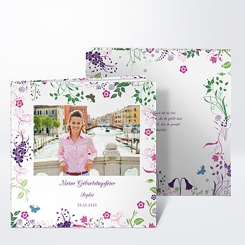 Fotobuch Geburtstag - Gladiolengarten