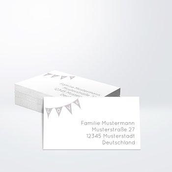 Empfängeraufkleber Hochzeit - Liebeswimpel