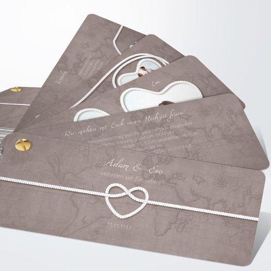 Starke Verbindung - Kartenfächer 210x80 - Warmgrau