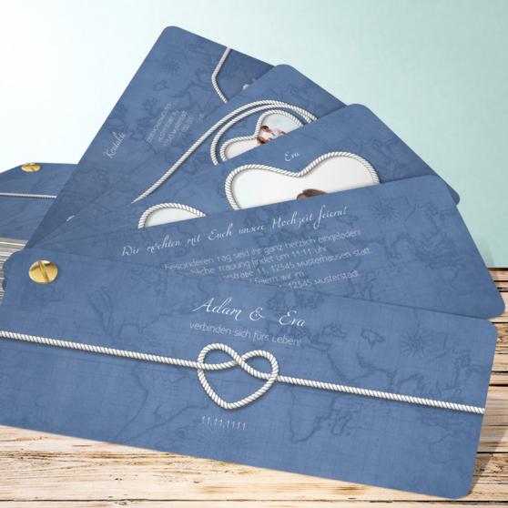 Starke Verbindung - Kartenfächer 210x80 - Feines Blau