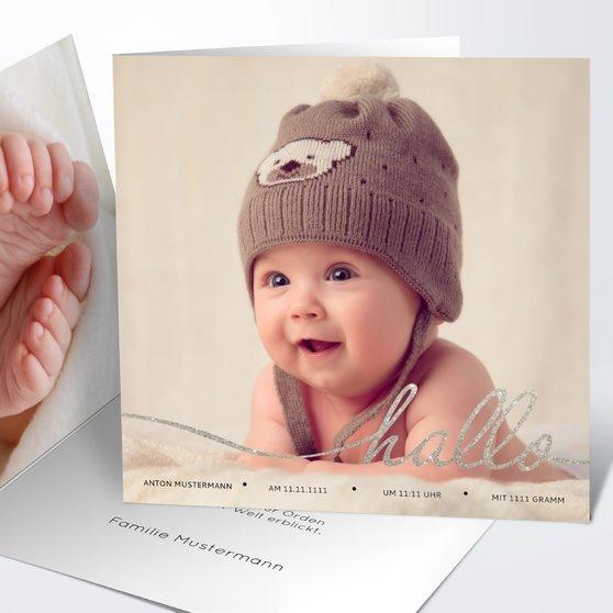 Geburtskarten - Hallo Baby