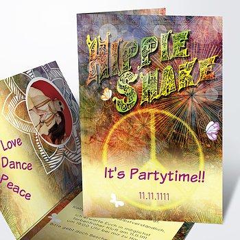 Geburtstagseinladungen - Hippie Birthday