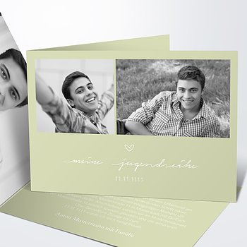 Jugendweihe Karten - Liebevolle Jugendweihe