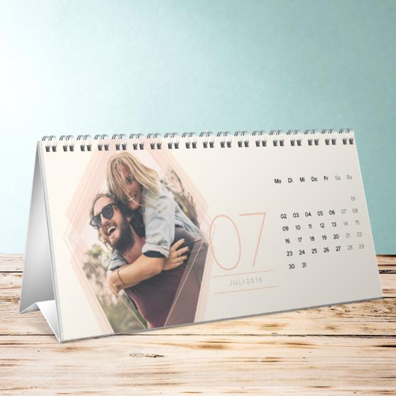 Polygon Tischkalender - Tischkalender 260x120 mm - Weiß