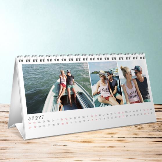 Klassisch Tischkalender - Tischkalender 260x120 mm - Weiß
