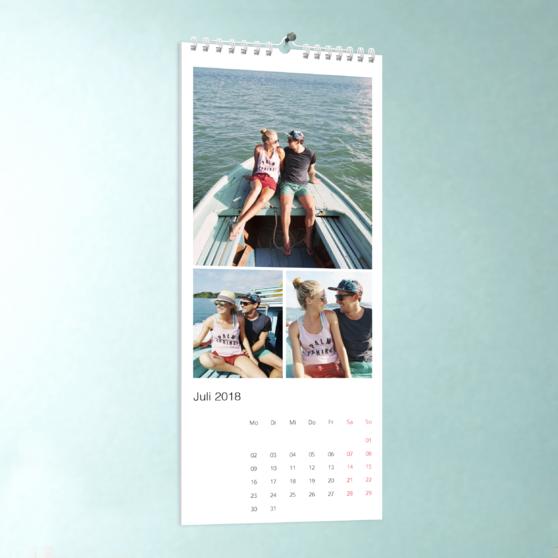 Klassisch - Wandkalender 148x360 - Weiß
