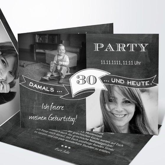 Geburtstagseinladungen - Jahrestafel  30
