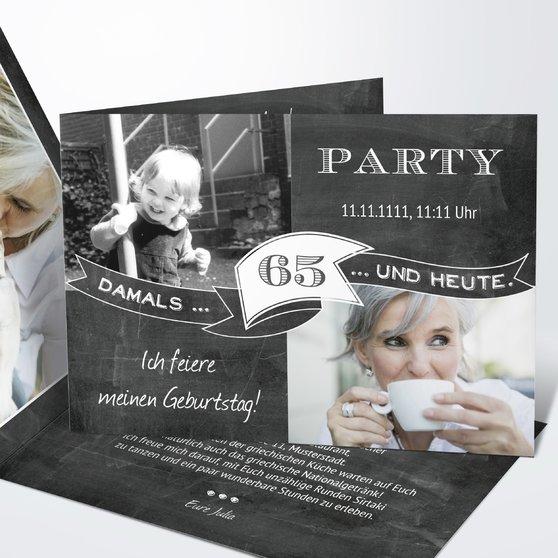Geburtstagseinladungen - Jahrestafel 65
