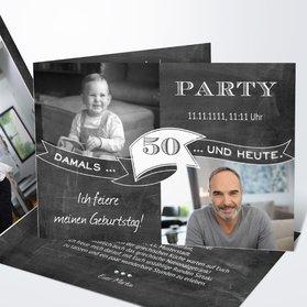 Geburtstagseinladungen   Jahrestafel 50