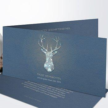 Weihnachtskarten Geschäftlich - Festliches Rentier