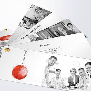 Weihnachtskarten Geschäftlich - Rote Weihnachtskugel