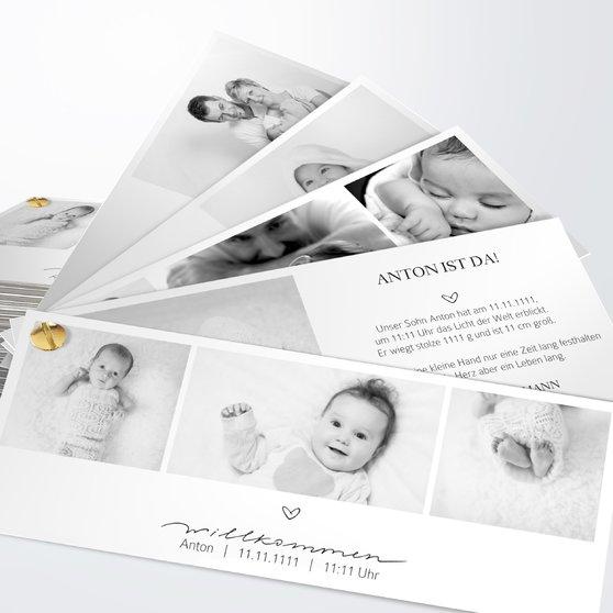 Kleiner Schatz - Kartenfächer 210x80 - Weiß