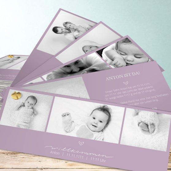 Kleiner Schatz - Kartenfächer 210x80 - Grauviolett