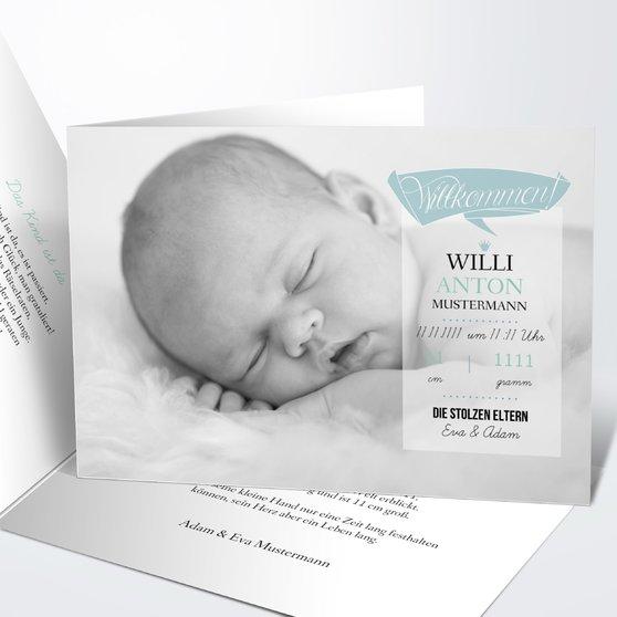 Geburtskarten - Ankunft