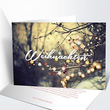 Weihnachtskarten Geschäftlich - Lichterwald
