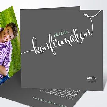 einladungskarten konfirmation konfirmationseinladungen selbst gestalten. Black Bedroom Furniture Sets. Home Design Ideas