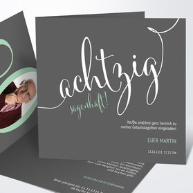 Einladungskarten 80 Geburtstag Selbst Gestalten