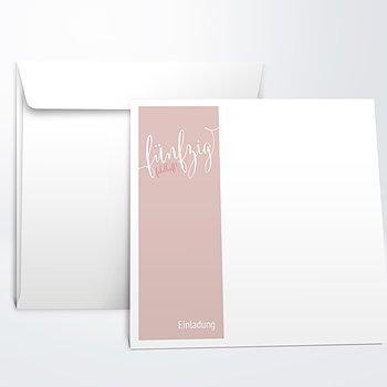 Umschlag mit Design Geburtstag - Fabelhafte Fünfzig