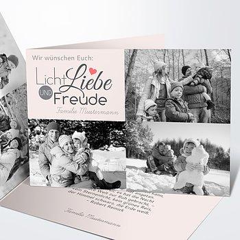 Weihnachtskarten - Liebe & Freude