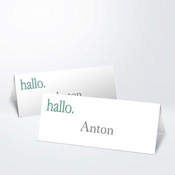 Tischkarten - Willkommen