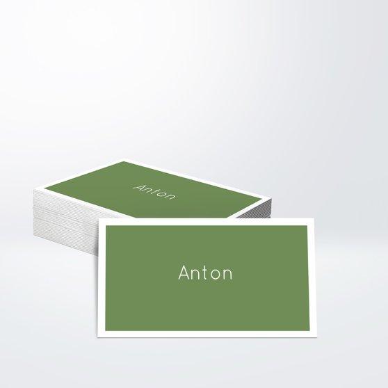 Bildreiches Weihnachten - Horizontal einfach 70x38 - Olivgrün